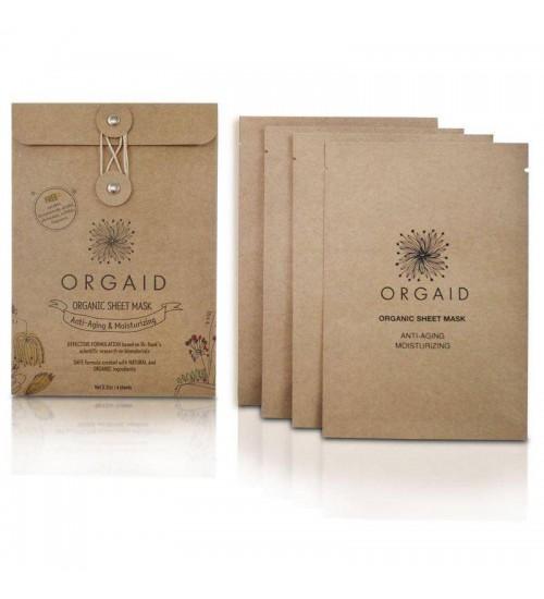 ORGAID Organic Sheet Mask - Anti-aging & Moisturizing 4 Sheets