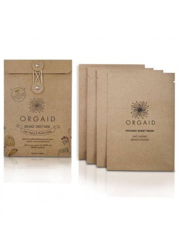 ORGAID Organic Sheet Mask - Anti-aging & Moisturizing 4 Sheets