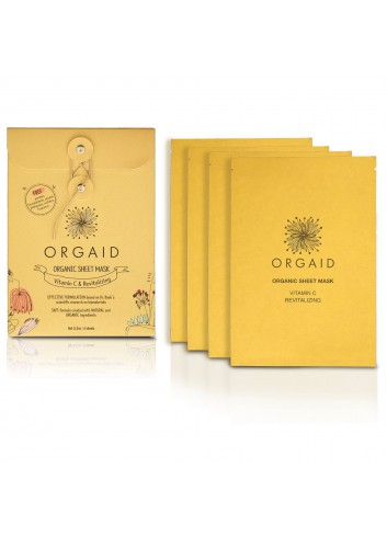 ORGAID Organic Sheet Mask - Vitamin C & Revitalizing 4 Sheets