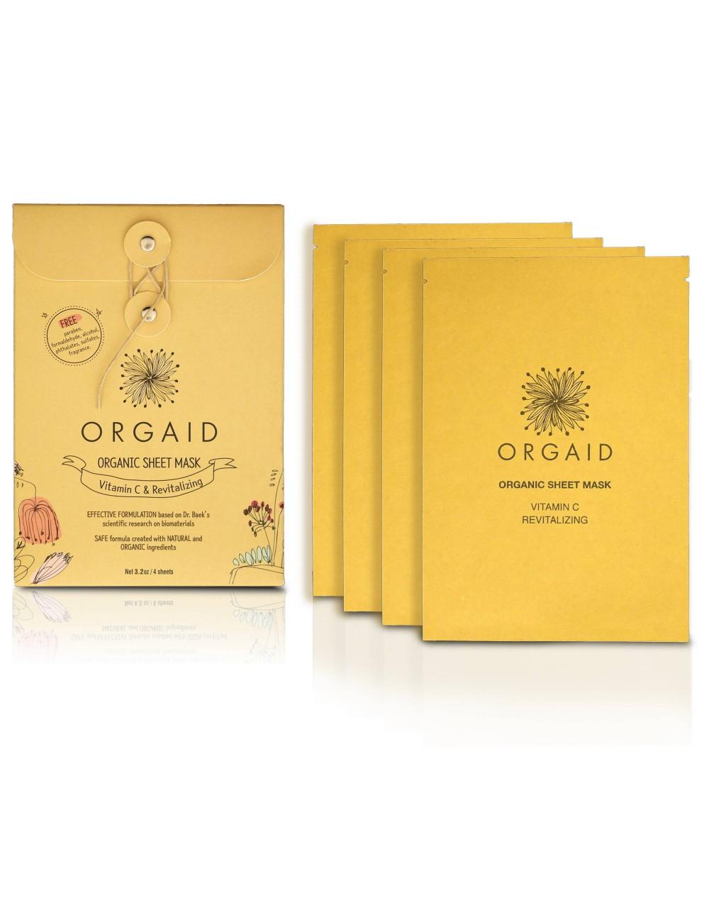 ORGAID Organic Sheet Mask - Vitamin C & Revitalizing 4 Sheets