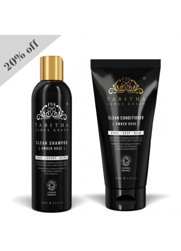 TJK Clean Amber Rose Shampoo 250ml and Conditioner 200ml