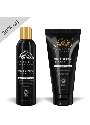TJK Clean Golden Citrus Shampoo 250ml and Conditioner 200ml