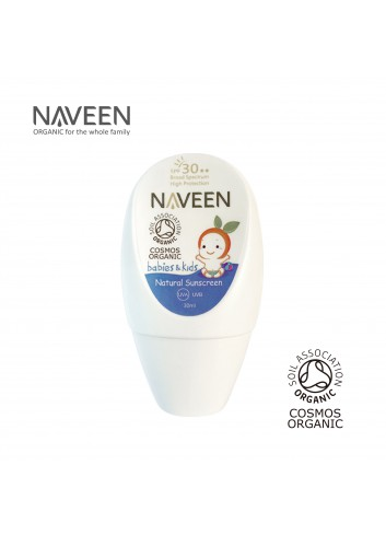 NAVEEN Natural Sunscreen for Babies & Kids SPF30 30ml