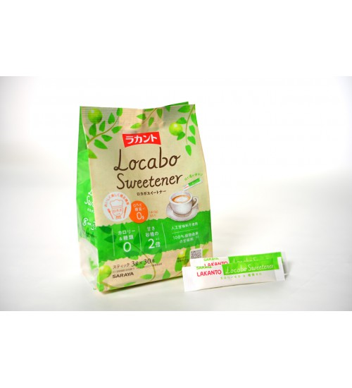日本 SARAYA LAKANTO Locabo 天然羅漢果糖 (兩茶匙糖 3克x 30小包 生酮適用)