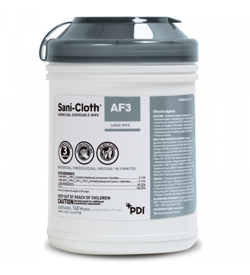 PDI Sani-Cloth® AF3 Germicidal Disposable Wipe (160 wipes)