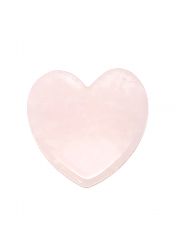 Silver Holistic Rose Quartz Facial Soothing Tool (Heart Shape) Massage Crystal