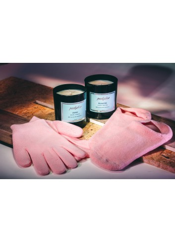 Peekaboo Christmas Promotion Set 1: Candle (Energy + Relaxation) + Gloves and Socks