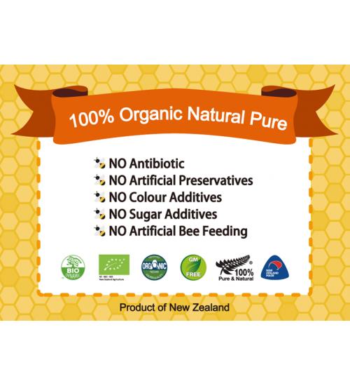 Honeyganics Organic Manuka Honey MGO50+ 500g