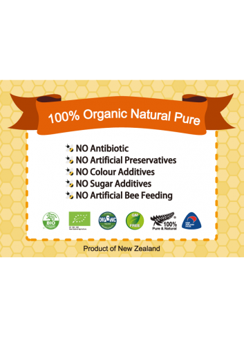 Honeyganics Organic Manuka Honey MGO100+ 500g