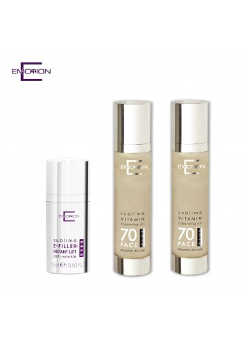 Buy Emotion VITAMIN PLUS Cleansing Oil 125ml x 2 pcs, Get E-Filler® Instant Lift Eye Serum 15ml 1pc for Free