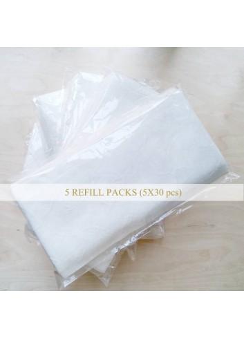 AVA LIU 輕柔潔面布 5包補充裝 (共150片)