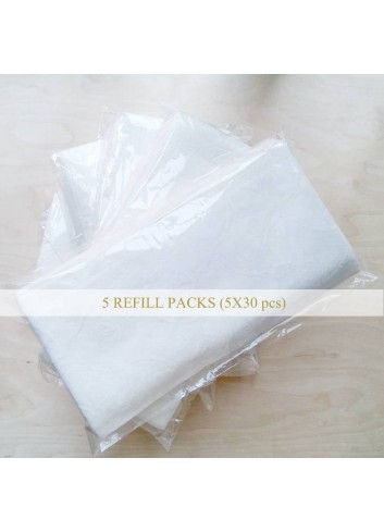 Gentle Washing Facial Cloth 5 Refill Pack (Total 150pcs)