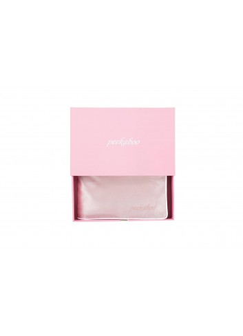 PEEKABOO 絲綢枕頭套 (粉色)